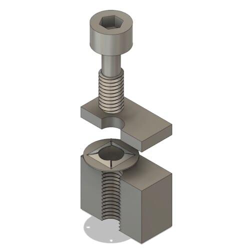 A captive screw is designed to be held 'captive' by a device such as a specialised captive washer after installation.